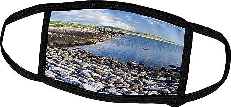 3dRose Danita Delimont - Beachs - Isle of Harris, The Coast Near Luskentyre. Scotland in July - Face Masks (fm_227963_2)
