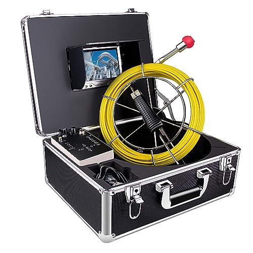 Cámara de inspección de tuberías, Anysun 30M Drain Sewer Endoscopio industrial Sistema de video IP68