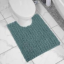 Yimobra Luxury Shaggy Toilet Bath Mat U-Shaped Contour Rugs for Bathroom, 24.4 X 20.4 Inches, Soft and Comfortable, Maximu...