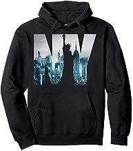Urban New York City Skyline Hoodie, New York City Pullover Hoodie