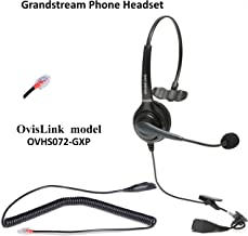 OvisLink Grandstream Headset | Noise Canceling Microphone Headset Compatible to Grandstream GXP-2160 & All High-End IP Phones | RJ9 Headset Quick Disconnect Included | Flexible & Rotatable Microphone