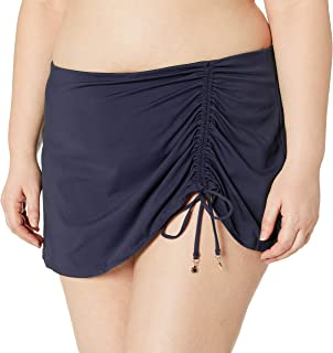 Anne Cole Women's Plus Size Sarong Skirted Bikini Swim Bottom