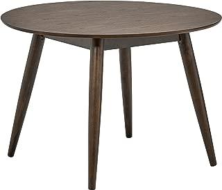 Rivet Mid-Century Round Wood Dining Table, 42