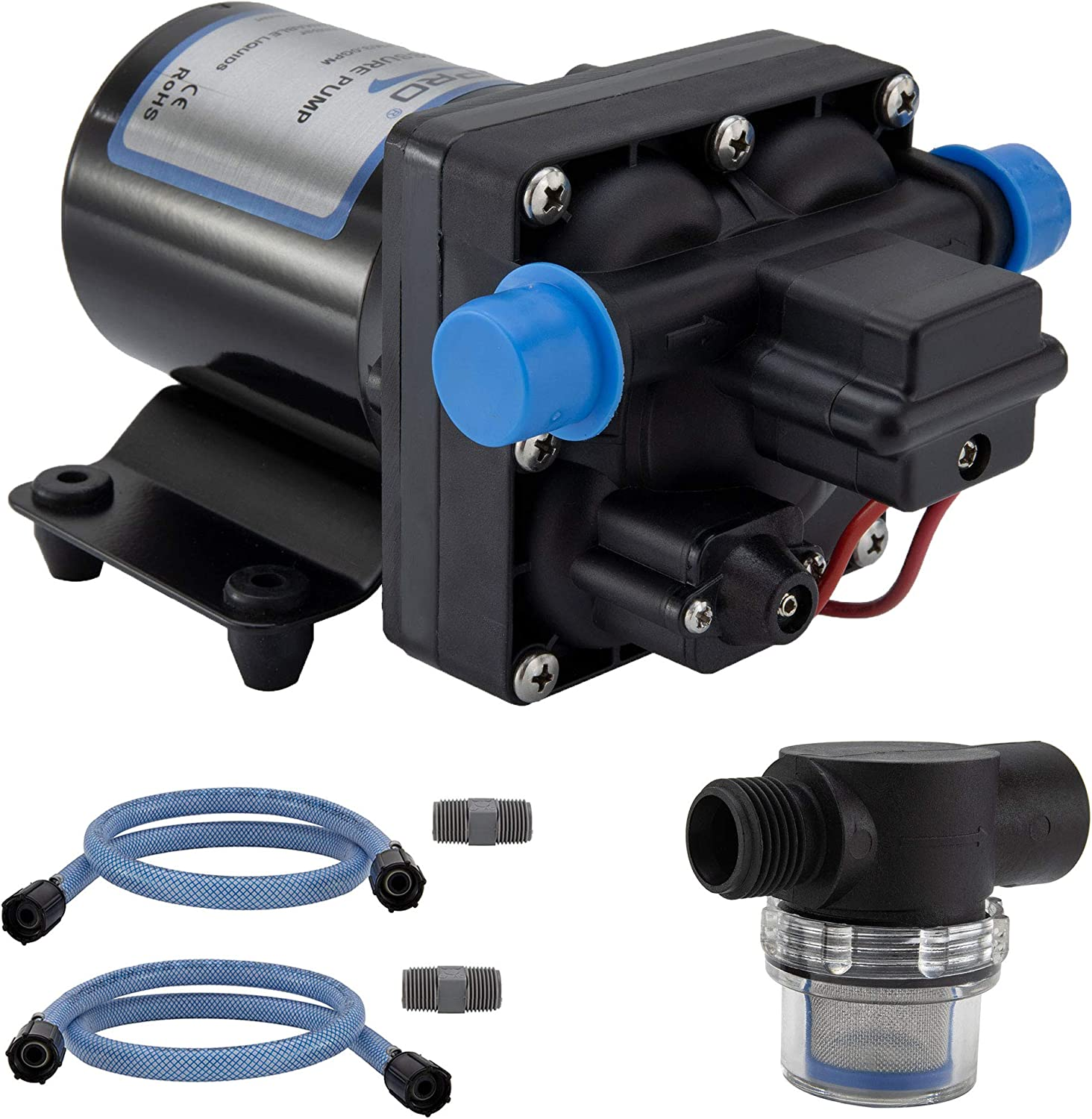 RecPro Max 67% OFF RV Water Pump 12V Pr Electric Sale special price Chamber with 4