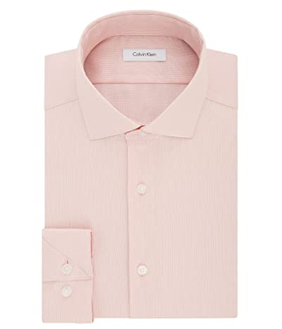 Calvin Klein Dress Shirt Slim Fit Non Iron Stretch Solid