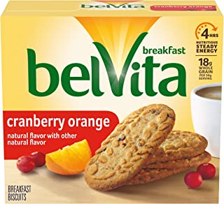 belVita Cranberry Orange Breakfast Biscuits, 5 Packs (4 Biscuits Per Pack)