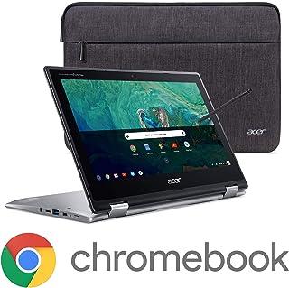 "Acer Chromebook Spin 11 Convertible Laptop, Intel Celeron N3350, 11.6"" HD Touch Display, 4GB DDR4, 32GB eMMC, 802.11ac WiFi, Wacom EMR Pen, Sleeve, CP311-1HN-C2DV"