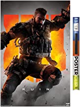 "Trends International Poster Clip Call of Duty: Black Ops 4 - Ruin Key Art, 22.375"" x 34"", Poster & Clip Bundle"