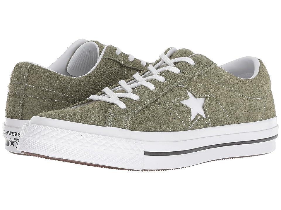 Converse Kids One Star Ox (Big Kid) (Field Surplus/Black/White) Boys Shoes
