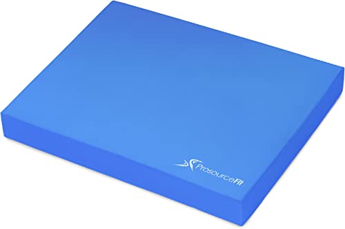 ProsourceFit Exercise Balance Pad, Non-Slip Cushioned Foam Mat & Knee Pad for Fitness and Stability Training, Yoga, P...