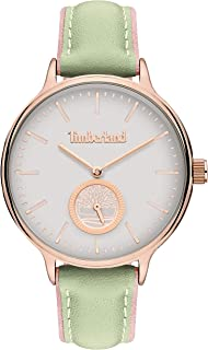 Timberland Norwell Women's Analogue Quartz Watch with White Dial and Ivory Leather Strap - TBL.15645MYR-01