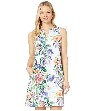 Tommy Bahama Hermosa Flora Linen Dress (White) Women