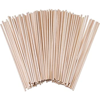 eBoot Unfinished Natural Wood Craft Dowel Rods 100 Pack (6 x 1/8 Inch)