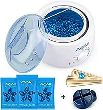 Home Waxing Kit,AVAII Painless Hair Removal Waxing Warmer Kit for Full Body Brazilian Bikini Face Eyebrows Legs Underarm with Hard Wax Beans (3.5oz/bags) & 20 Wax Applicator Sticks