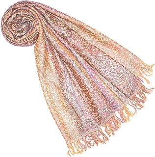 Lorenzo Cana Luxus Wollschal Seidenschal Damenschal Schaltuch Schal jacquard gewebt Naturfasern 50% Wolle 50% Seide