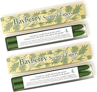 Mole Hollow Bayberry Scented Taper Candles 2pk - with Bayberry Candle Legend!