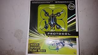 Protocol - Slipstream 4-channel Radio-controlled Mini Quad-copter - White/blue