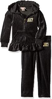 Juicy Couture橘滋时装,丝绒两件套运动服  黑色 5