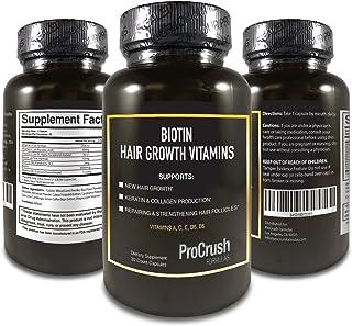 Biotin Hair Growth Support Multivitamins- Grow Longer, Fuller, Thicker, Healthier Hair. Natural Supplement Vitamin for Skin