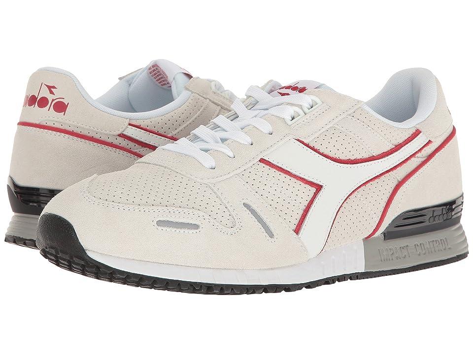 Diadora Titan Premium (White/Chili Pepper) Athletic Shoes