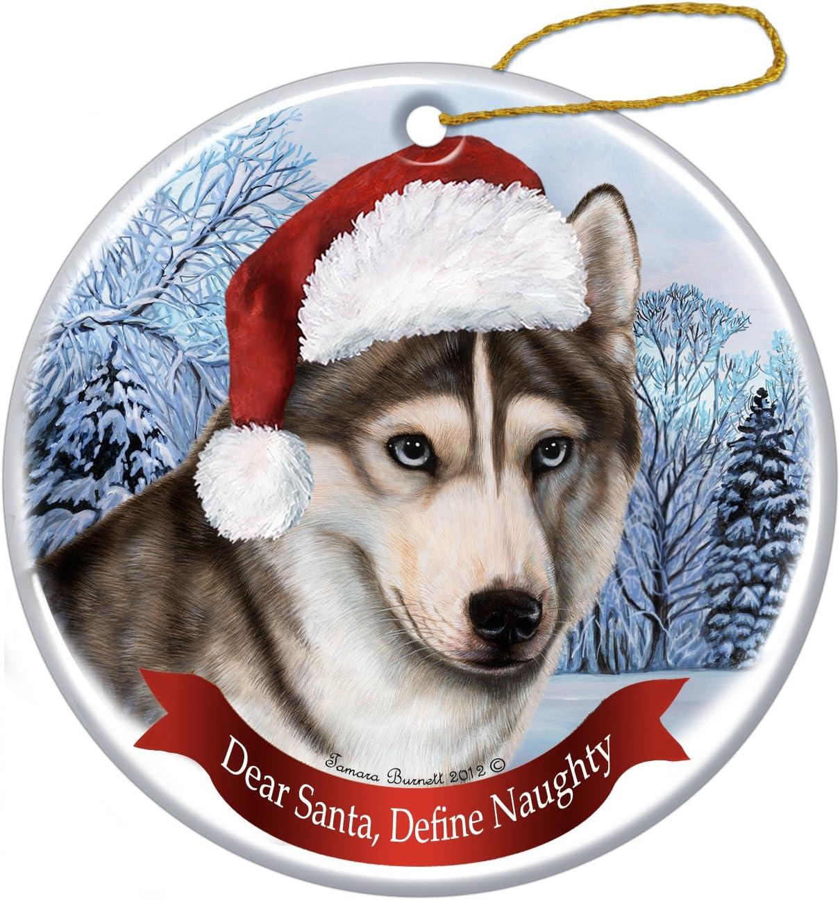 Holiday Pet Gifts Siberian Husky Christm Hat Porcelain Santa Dog Weekly Detroit Mall update