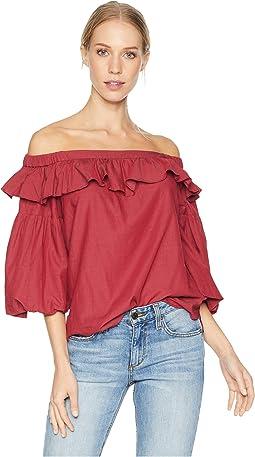 Short Sleeve Shirred Top