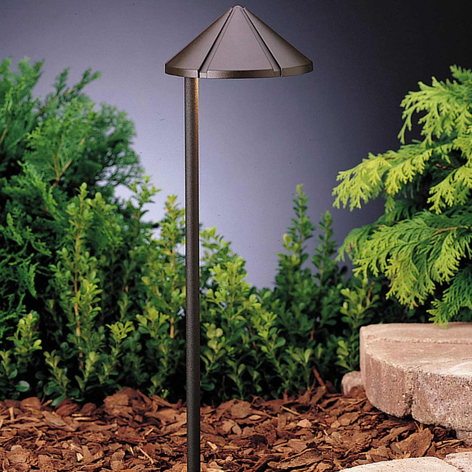 Kichler Lighting 15315AZT Six Be super welcome Groove - Path Low Excellence Light Voltage 1