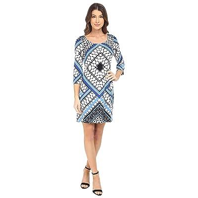 Jessica Simpson Printed Ity Shift Dress (Blue Print) Women