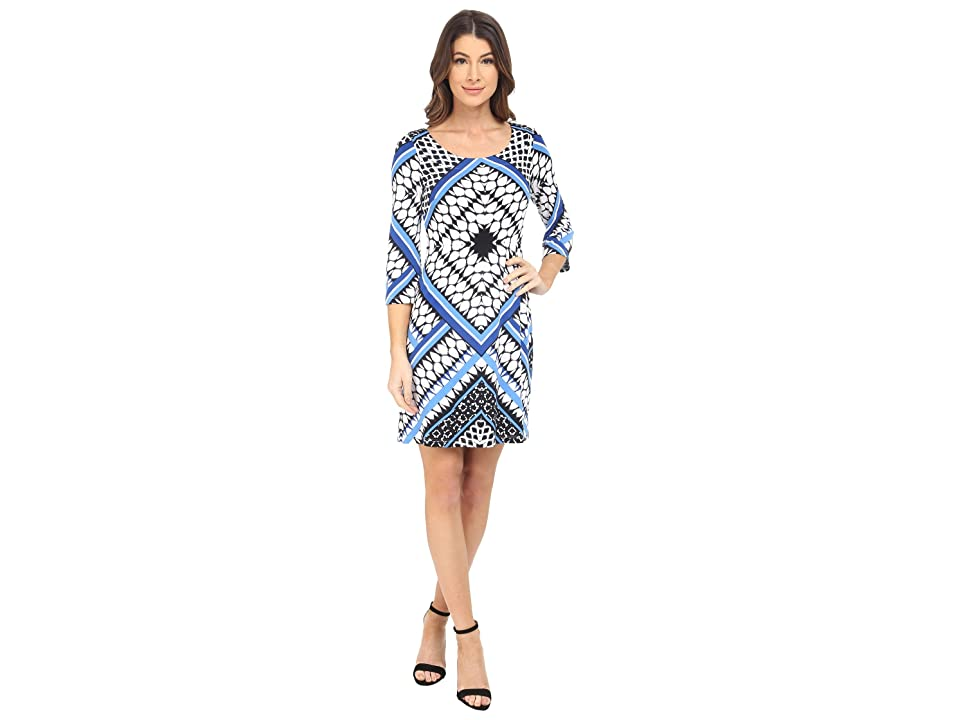 Jessica Simpson Printed Ity Shift Dress (Blue Print) Women