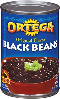 Ortega Black Beans, Original Flavor, 15 Ounce (Pack of 12)
