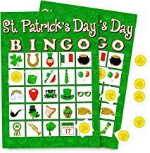 St. Patrick's Day Bingo Game Shamrock Party Favors/Supplies 24 Players
