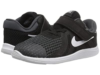 Nike Kids Revolution 4 (Infant/Toddler) (Black/White/Anthracite) Boys Shoes
