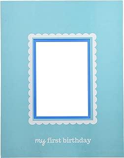 Little Buddy Boys' 1st Birthday Party Autograph Photo Frame, Blue, 14