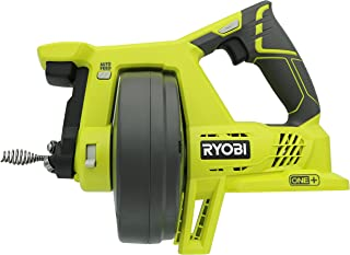 Ryobi P4001 One+ 18V Lithium Ion All-In-One 25 Foot Drain Auger for Sinks or Toilets (Battery Not Included, Power Tool Only)