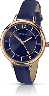Sekonda Women's Quartz Watch with Blue Dial Analogue Display and Blue PU Strap 2136.27