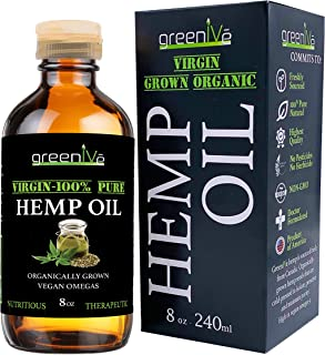 GreenIVe - Hemp Oil 227,000mg - Anti-Inflammatory - Vegan Omegas - Cold Pressed - Exclusively on Amazon (8 Ounce)