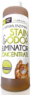 Life Miracle Enzyme Cleaner & Pet Odor Eliminator Concentrate | Deep Cleaning Enzymatic Spot Remover for Dog Cat Urine, Rug, Carpet, Upholstery, Couch & Car Stains & Smells | Concentrate Makes 128 oz