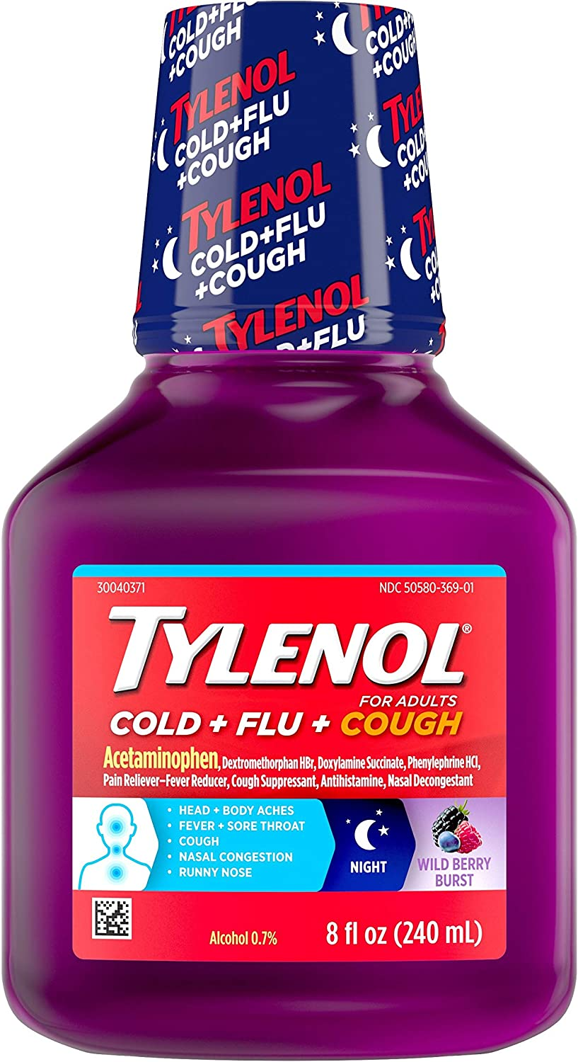 Tylenol Cold Flu + New popularity Free shipping anywhere in the nation Cough Night Medic Liquid