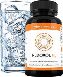 Hydrogen Water, High Dose, Fast Dissolve, Tablets (60 Servings) - Highest Concentration Available - Enjoy Your H2 Water at Home Or On The Go - Smart Antioxidant, Fights Inflammation, Boosts Energy