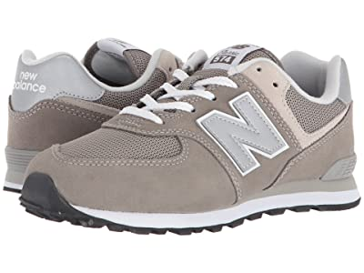 New Balance Kids GC574v1 (Big Kid) (Grey/Grey) Boys Shoes