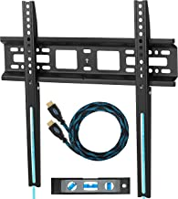 Cheetah Flat/Tilt TV Wall Mount Bracket, Includes a TV Bracket, a 10' Twisted Veins HDMI Cable and a 6