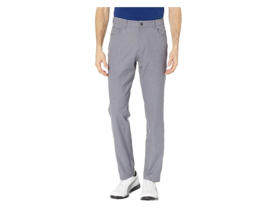 Image of PUMA Golf Jackpot Five-Pocket Heather Pants (Quiet Shade) Men's Casual Pants