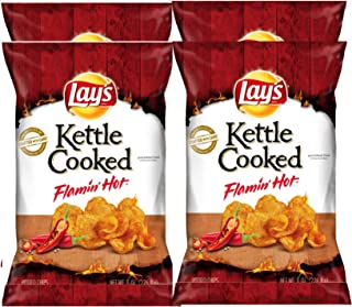 NEW Lay's Kettle Cooked Flamin Hot Limited Time Only Net 8oz (4)