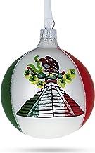 BestPysanky Flag of Mexico Glass Ball Christmas Ornament