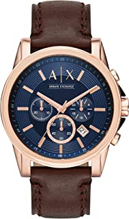 A|X Men's Brown Leather Watch AX2508