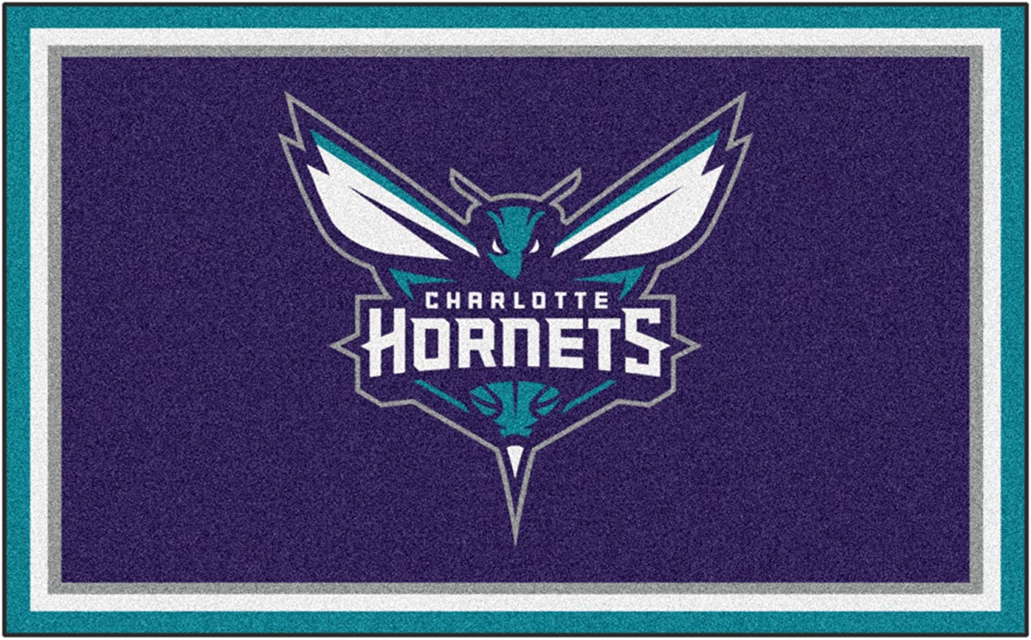 NBA - Charlotte Hornets 4ft. Rug 6ft. Plush Area Free overseas shipping New x