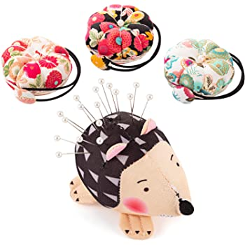 Hedgehog Needle Pillow Patchwork Holder Anti Falling Pin Cushion Needlecraft Sewing Accessories