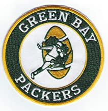 Green Bay Packers Retro Round Iron-on Football Jersey Patch 4