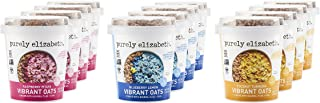 purely elizabeth Oats Single Serve Cups, Vibrant, Variety Pack, 12 Count