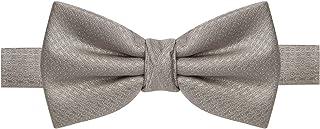 Gravata borboleta cinza claro com detalhes na mesma cor
